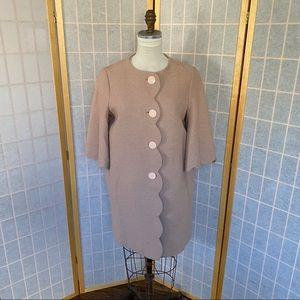 Kate Spade scallop tweed coat jacket size 2 pink